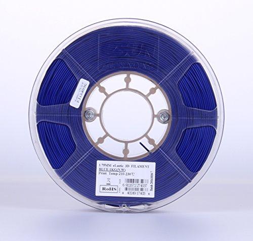 eSUN 1.75mm Elastic TPE 85A 3D Printer Filament 1KG Spool (2.2lbs), Blue