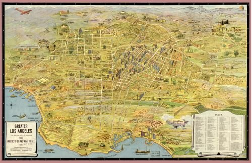INFINITE PHOTOGRAPHS Map of Greater Los Angeles : The Wonder City of America California|Los Angeles|California|Los Angeles|California|Los Angeles|Los Angeles (Calif.)|s