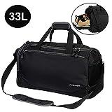 CGBOOM Sporttasche Reisetasche mit Schuhfach und Trinkflaschen-Halter 33 Liter Gym Fitness Sport Tasche Trainingstasche Handgepäck Weekender für Männer und Frauen