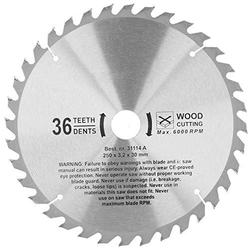 Hojas de sierra circulares Carburo cementado 36 dientes Corte rápido disco de corte redondo de madera para procesamiento de madera