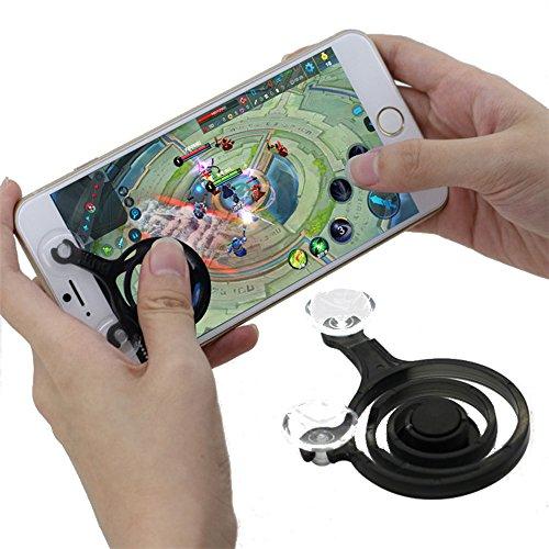 ADZ Mini Joystick Arcade Spiel Stick Controller Joypad 2 Pack für Touch Screen iPhone iPad Ipod Android Tablet Mobile SmartPhone (Schwarz)