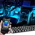 OPT7 4pc Kit Aura PRO Bluetooth Smart-Color LED Strip Interior Lighting Kit-4pc-App Enabled-iOS & Android