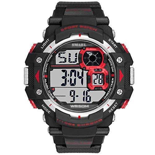 SXXYTCWL For Hombre Reloj Deportivo, Correr Hombres Reloj de Pulsera, 50m Impermeables es Digitales, con Cuenta atrás/Temporizador/Alarma, for los Hombres-B jianyou (Color : B)