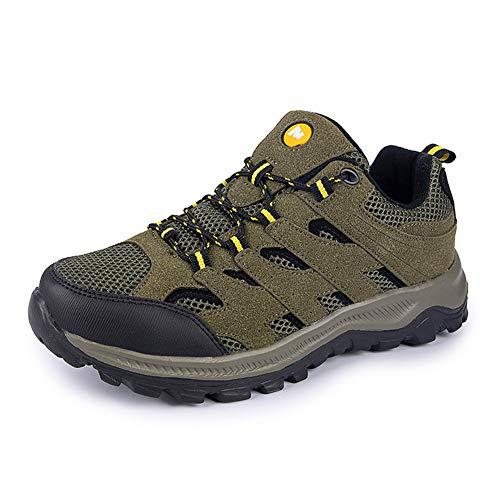 Calzado para correr al aire libre, Calzado deportivo senderismo para hombres, Calzado informal para caminar, Ligero resistente al desgaste, Adecuado para escalar montañas y acampar,Army green,50