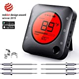 Bluetooth Meat Thermometer Wireless Meat Thermometer, Wireless Digital Grill Thermometer with 6 Temperature Probes, Large LCD Display, Bluetooth Thermometer for Grill, Smoker, Oven, Cooking and BBQ