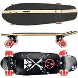 FunTomia Skateboard Monopatín con rodamientos ABEC-11 y Rodillos de dureza 100A - Hecho con 7 Capas de Madera 100% Arce Canadiense
