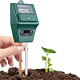 Naitik Creation Soil Tester 3-in-1 Soil Moisture, pH Meter Test Kit with Light pH Acidity Detector Analyzer for Indoor Outdoor Garden Farm Lawn Plants Flower, Solar Soil Plant Care Sensor