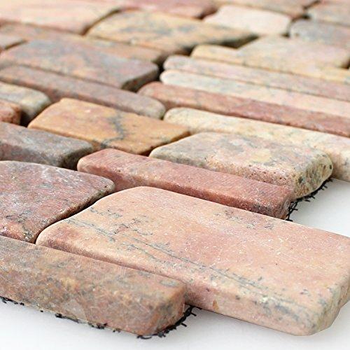 Marmor Fliesen Naturstein Brick Mosaik Rosso Verona