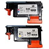 Wolfgray 2 Pack Remanufactured 940 Printhead Replacement for HP940XL 940 Printhead for HP Officejet Pro 8000 8500 Hp 940 Print Head C4900A C4901A for HP Officejet Pro 8000 8500 8500A 8500A Plus 8500A