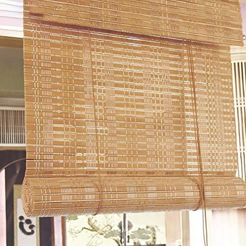 JCJ-Shop Cortinas De Bambú con Persianas Enrollables, Privacidad del Patio Persianas Enrollables De Bambú para Terraza con Porche BalcóN Pergola Cochera Personalizable (18x39 Pulgadas)