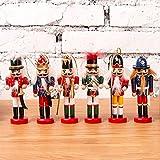 Cascanueces Figuras de Adorno Colgante Árbol de Marionetas Colgante Decoración navideña Mini Soldado de Madera Marioneta Cascanueces para árbol de Navidad, Mesa, Decoración de la habitación (B 6pcs)