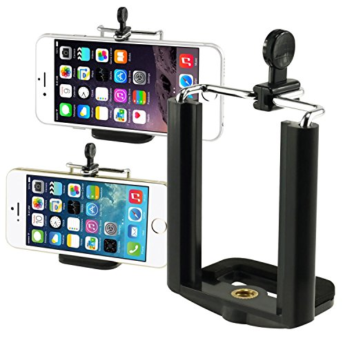 Insten Camera Stand Clip Bracket Holder Monopod Tripod Mount Adapter Compatible with iPhone 11 12 Mini Pro Max Xs Xr SE 2020 8 Plus Galaxy S10 Plus S10e Note 8 Note 9 S8 S8+ S9 S9+ LG G6