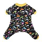 CuteBone Dog Pajamas Dinosaur Dog Apparel Dog Jumpsuit Pet Clothes Pajamas P26XS