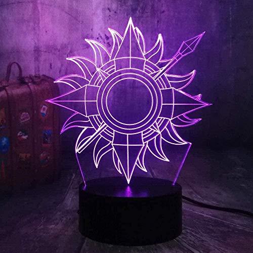 Martell Juego de tronos Luz de noche 3D Luz LED Transformación de 7 colores con USB Decoración de dormitorio Cumpleaños para niños Año nuevo Regalo exquisito Decoración de juguete