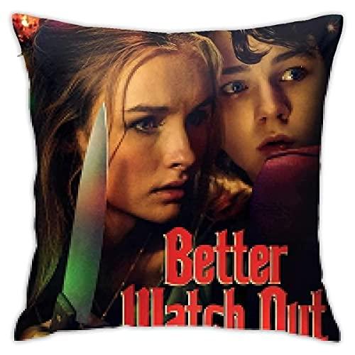 Better Watch Out - Fundas de almohada de tamaño estándar, cuadrada, funda de cojín para sofá, decoración del hogar, 45,7 x 45,7 cm