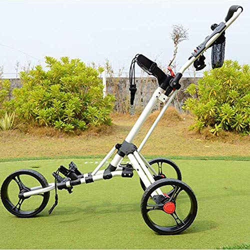 Check Out This 3 Wheel Folding Golf Push Carts Lightweight Golf Push Cart for Outdoor Travel Home Sp...