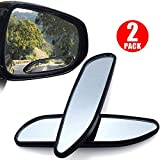 2pcs Car Blind Spot Mirror, LinkStyle Universal Wide Angle Rear Side View Spot Mirror Safety Convex Side Mirror Long Design Car Mirror for Cars Trucks SUV RVs and Vans