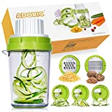 Best Spiralizers - ADORIC 5 in 1 Vegetable Spiralizer Slicer Heavy Review