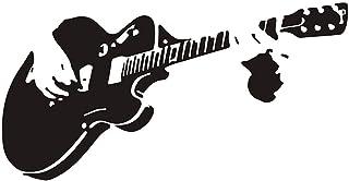 ملصق جداري على شكل جيتار مصنوع من البولي فينيل كلورايد مقاوم للماء DIY جداري فن جداري جداري لغرفة النوم والمطبخ والمكتب ود...