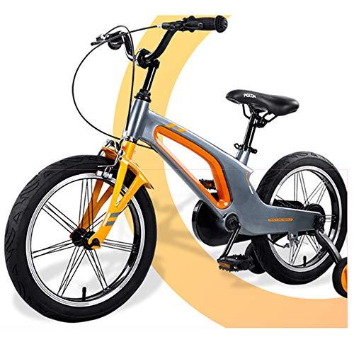 LFFME Bicicleta para Niños De 14'16' para Niñas Y Niños, Bicicleta para Niños con Ruedas De Entrenamiento Y Frenos De Mano, Marco Integrado De Aleación De Magnesio,C,14