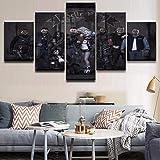 Clown Star Leinwanddrucke Wandplakate und Heimdekoration für Wohnzimmer40x60cmx2, 40x80cmx2, 40x100cmx1Rahmenlose Malerei