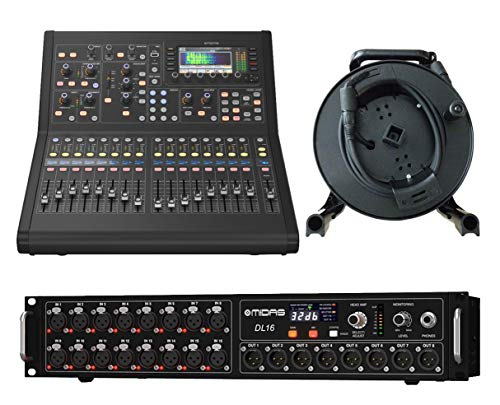 Cheapest Price! Midas M32R Live Digital Mixer + DL16 Stage Box + 150' Cat5 Network Cable Spool