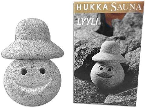 SudoreWell® Saunawichtel Lyyli med hatt – bastusten av specksten – original från Finland av Hukka Sauna