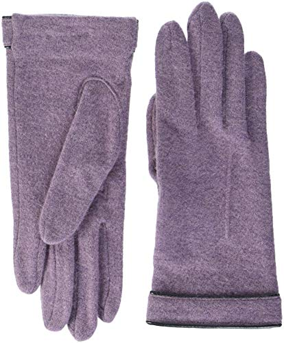 Roeckl Damen Leather Piping Handschuhe, Violett (Mauve 670), One Size