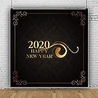 Qinunipoto 2020 happy new year 背景布 新年背景 新年を迎えて 写真撮影用 写真の背景 背景幕 撮影用 無反射布 写真スタジオ 写真 カスタマイズ可能な背景 スタジオのプロ背景幕 小道具 ビニール 2.5x2.5m