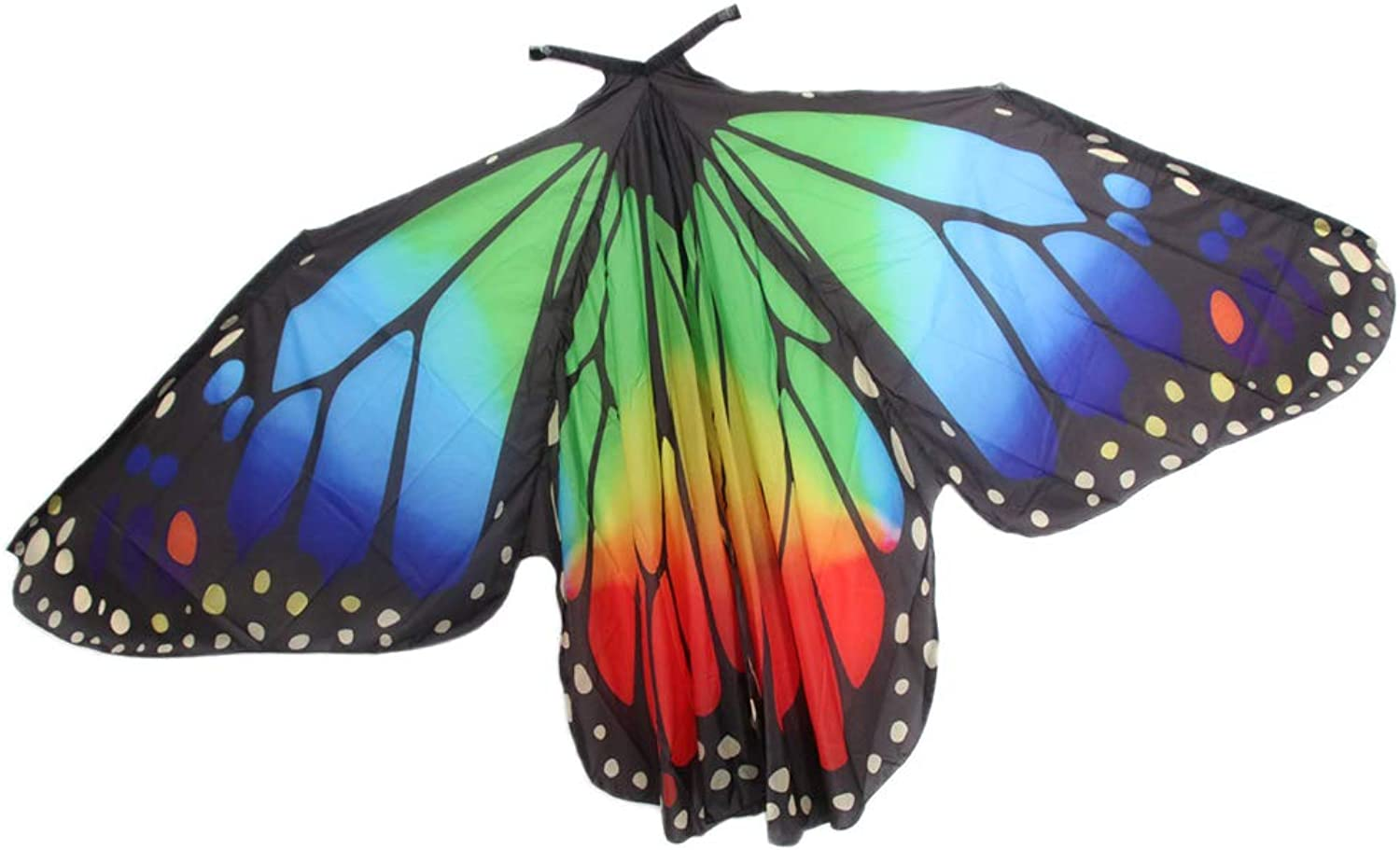 Prettyia Egypt Belly Wings Dancing Costume Butterfly Wing Rainbow color Festival Christmas Holiday Dance Accessories