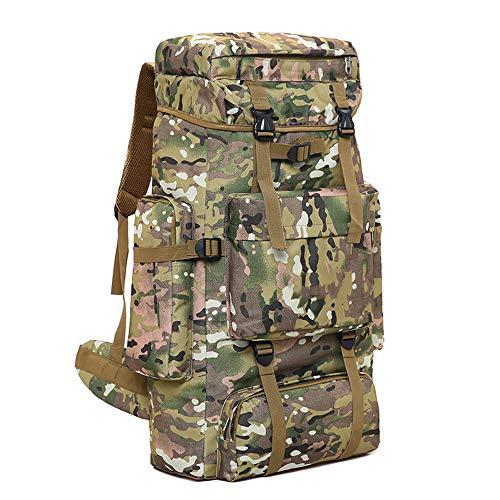 70L Outdoor Mountaineering Bag, Randonnée Tactique Camouflage Sac À Dos Sac À Dos Résistant À l'usure Étanche Grande Capacité Voyage Sac À Dos,3