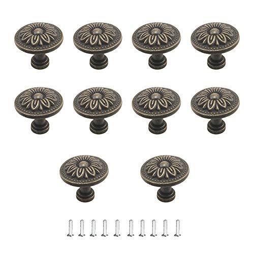 JINXM 10 PCS Pomelli per Porta Manopole per cassetti Pomolo per Mobile per Cassetti Cucina Armadio Antichi