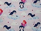 Pinguine Spaß Print Baumwolle Kleid Stoff