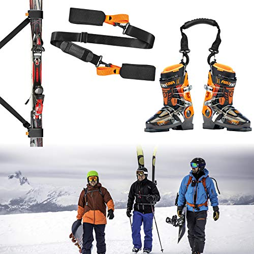 Cross Country Skis Men Package Ski Strap and Ski Boot Strap, Ski Poles...