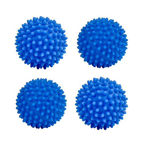 Eco Laundry Dryer Balls Reusable Silicone Soft Washing Balls Fabric Softener Alternative for Quick Drying (4 Packs)