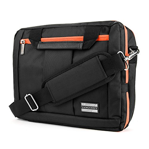 "Orange Convertible Laptop Backpack Messenger Bag for Microsoft Surface Pro 7, 6, Pro X 13"""