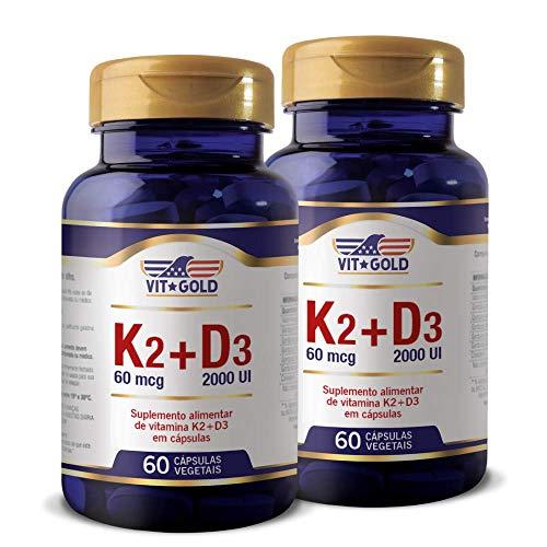 Vitamina K2 60mcg + D3 2.000UI Vitgold Kit 2x 60 Caps