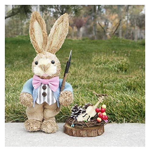 LIUSHI Manualidades de Conejito de Pascua, Decoraciones de Interiores de Pascua, Accesorios de decoracin de Fiestas Que decoran el hogar y la Oficina