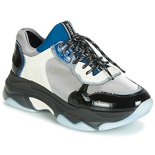 BRONX BAISLEY Sneakers femmes Zwart/Zilver/Wit Lage sneakers
