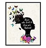 Inspirational Bible Verse Wall Decor for African American Women - Religious Scripture Art Poster For Black Girls or Teens Bedroom, Living Room - Motivational Christian Gift - Blessed Wall Decor