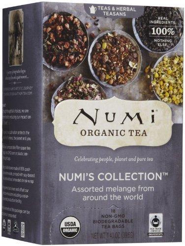 Numi Organic - Assorted Melange Numi's Collection Tea - 18 Tea Bags by NUMI TEA