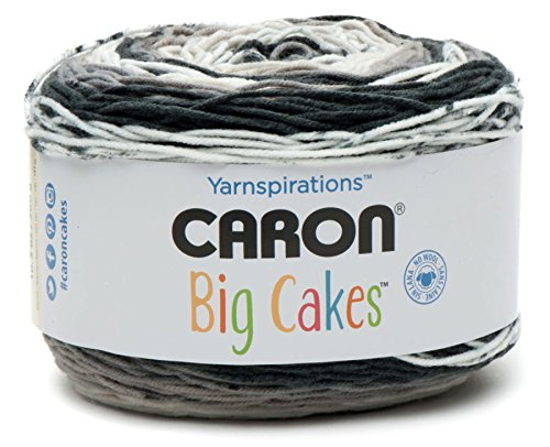 Caron Big Cakes Self Striping Yarn ~ 603 yd/551 m / 10.5oz/300 g Each (Cookie Crumble)