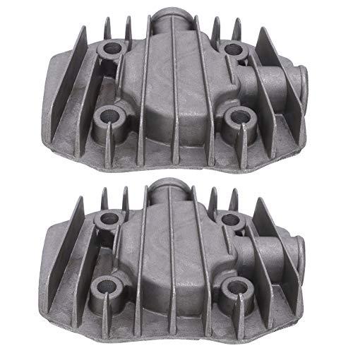 Cilindro de la cabeza del compresor de aire de la impulsión neumática 2.5/3P de la culata 2pcs kit de reemplazo de la cabeza del cilindro de aluminio fundido para el compresor