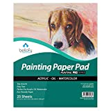 Bellofy Painting Paper Pad - 9 x 12 in Ideal for Oil, Acrylic, Watercolor Painting - Paint Paper for Kids Cold Pressed Rough Finish Paper for Painting - 246 lB / 400 GSM Acrylic Paper for Painting