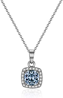 Mestige Ruthenium Plated Harper Sapphire Necklace for Women (MSNE3542)