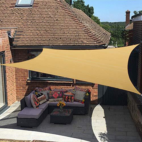 diig Terrassen-Sonnensegel, 2,8 x 3,9 m, rechteckiger Schattenstoff mit UV-Block-Sonnenschutz, Stoff – Outdoor-Abdeckung, Markise, Unterstand für Pergola, Hinterhof,...