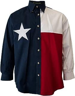 Tiger Hill Texas Flag Long Sleeve Twill Shirt