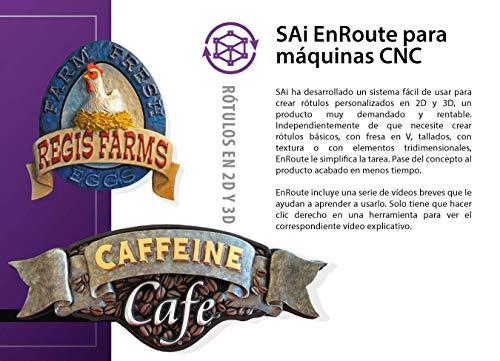 Software EnRoute CNC, 6 meses de suscripción, software de diseño CAD CAM para máquinas CNC, diseño 2D y 3D y trazado para Routers (código de registro y descarga de software)