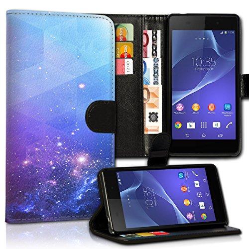 wicostar Book Style Huawei Ascend Y330 Premium PU-Leder Tasche Flip Brieftasche Handy Hülle Kartenfächer mit Standfunktion für Huawei Ascend Y330 - Design Flip MVC16
