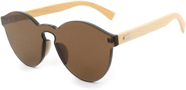 Wayfarer Bamboo Feet Sunglasses Big Frame Wild Frameless Personality Resin Lenses Eyewear Candy color Goggles for Men's Women's